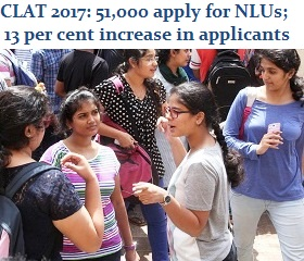 CLAT 2017: 51,000 apply for NLUs; 13 per cent increase in applications