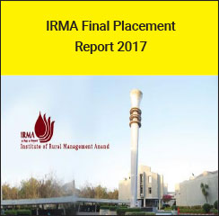 IRMA Final Placement Report 2017 - GCMMF (Amul) emerges as top recruiting firm