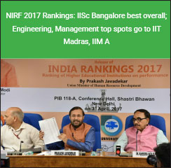 MHRD NIRF 2017 Rankings: IISc Bangalore best overall