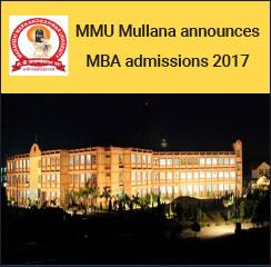 MMU Mullana announces MBA admissions 2017