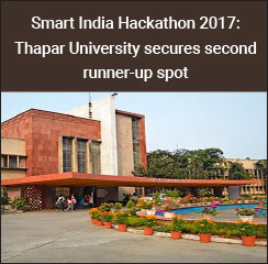 Smart India Hackathon 2017: Thapar University secures second runner-up spot