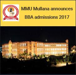 MMU Mullana announces BBA admissions 2017