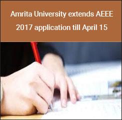 Amrita University extends AEEE 2017 application till April 15