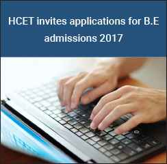 HCET invites applications for B.E admissions 2017