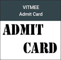 VITMEE admit card 2017