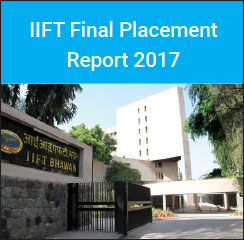 IIFT Final Placement Report 2015-17 - International offers increase by 33 per cent