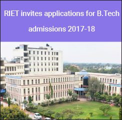 RIET invites applications for B.Tech admissions 2017-18