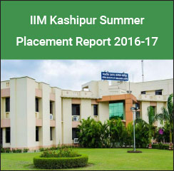 IIM Kashipur Summer Placement Report 2016-17: Sales and Marketing highest recruiting domain