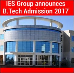 IES Group announces B.Tech Admission 2017