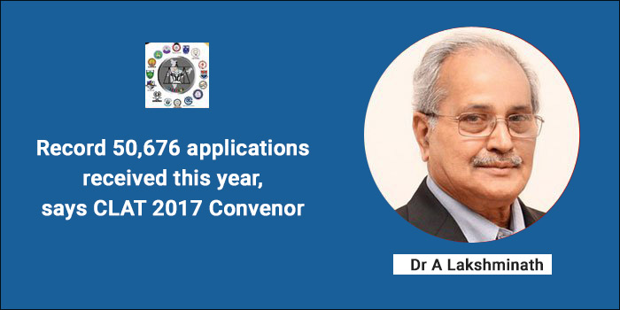 CLAT 2017: Record 50,676 applications received this year, says Convenor