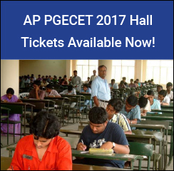 AP PGECET 2017 Hall Tickets Available Now!
