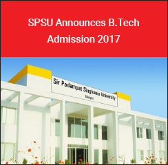 SPSU Announces B.Tech Admission 2017