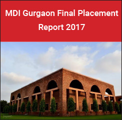 MDI Gurgaon Final Placement Report 2017 - BFSI and Sales Marketing highest recruiting areas