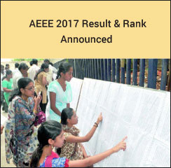 AEEE 2017 Result & Rank Announced