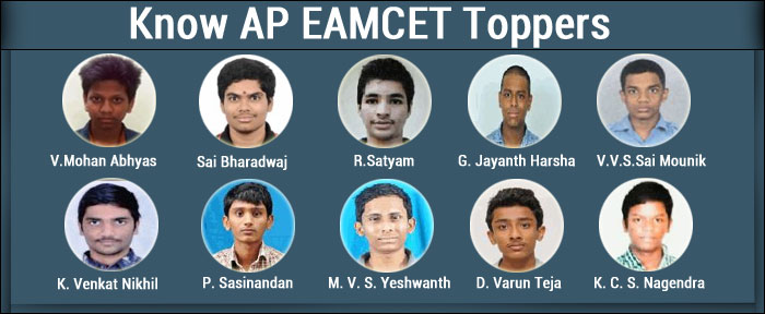 Know AP EAMCET 2017 Toppers