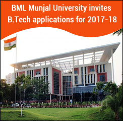 BML Munjal University invites applications for B.Tech admissions 2017