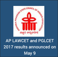 AP LAWCET and PGLCET 2017 results announced on May 9