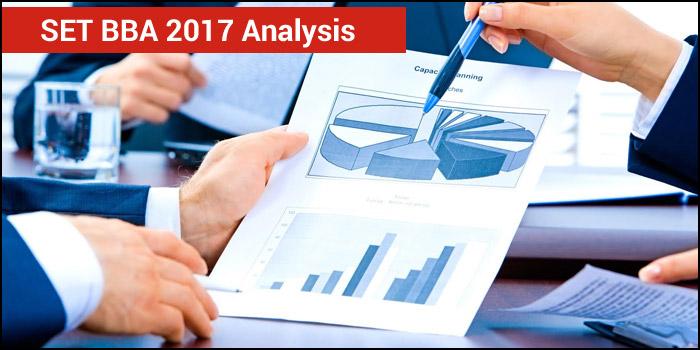 SET BBA 2017 Analysis- Easy to Moderate test with tough Quantitative