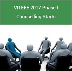 VITEEE 2017 Phase I Counselling Starts