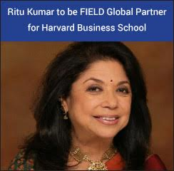 Ritu Kumar to be FIELD Global Partner for Harvard Business School