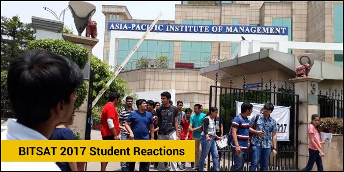 BITSAT 2017 Student Reactions