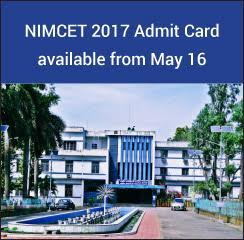 NIMCET 2017 Admit Card available from May 16