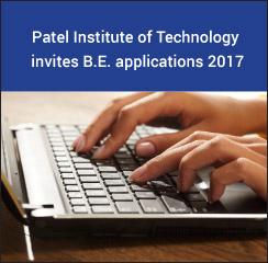 Patel Institute of Technology invites B.E. applications 2017