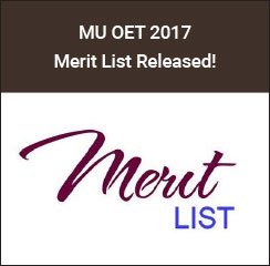 MU OET Merit List 2017 Announced
