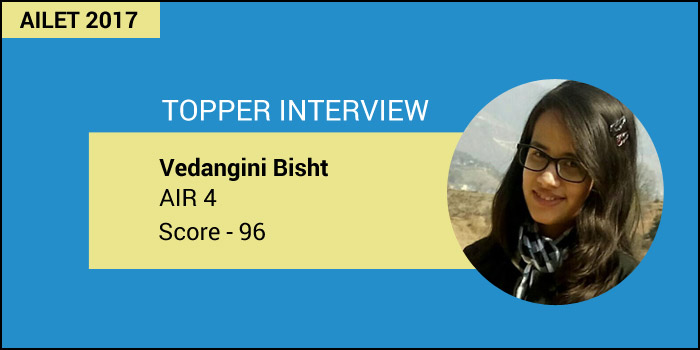 AILET Topper Interview: Begin preparations early and plan strategically, says Vedangini Bisht, AIR 4
