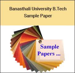 Banasthali University B.Tech Sample Paper 2017