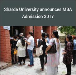 Sharda University announces MBA Admission 2017