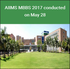 AIIMS MBBS 2017 conducted on May 28