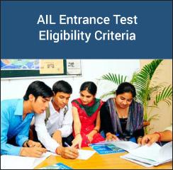 AIL Entrance Test Eligibility Criteria 2017