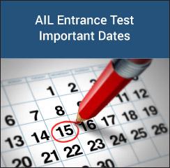 AIL Entrance Test Important Dates 2017