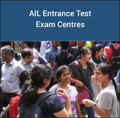 AIL Entrance Test Exam Centres 2017
