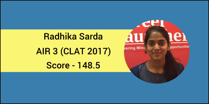 CLAT 2017 Topper Interview: Success comes from complete dedication, says AIR 3, Radhika Sarda