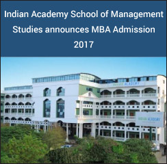 Indian Academy School of Management Studies announces MBA Admission 2017