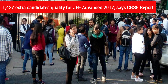 1,427 extra candidates qualify for JEE Advanced 2017, says CBSE Report