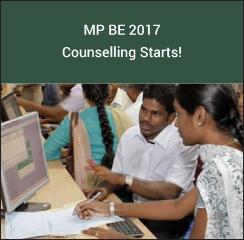 MP B.E 2017 Counselling Starts!