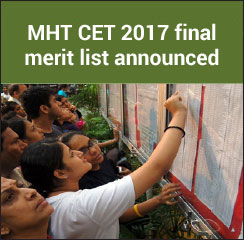 MHT CET 2017 final merit list announced