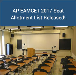 AP EAMCET 2017 Seat Allotment List Released!