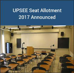 UPSEE 2017 Seat Allotment Announced