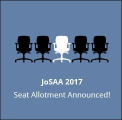 JoSAA 2017 Seat Allotment Announced!