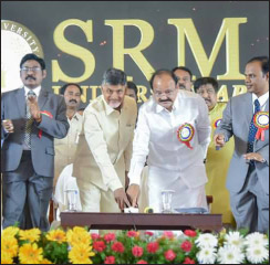 SRM Amaravati campus inaugurated by Andhra Pradesh Chief Minister