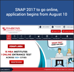 SNAP 2017 to be conducted on December 17 in computer based mode; Application begins from August 10