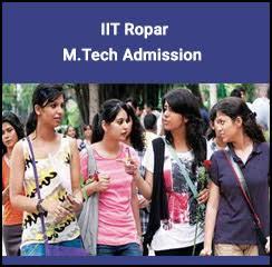 IIT Ropar M.Tech Admission 2018