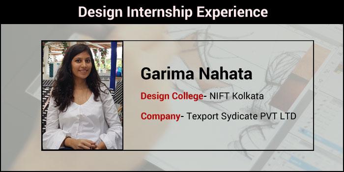 Design Internship Experience How Nift Kolkata Student Garima Nahata