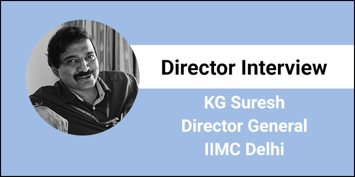 "IIMC Director General KG Suresh Interview- ""We groom students to become industry-ready"""