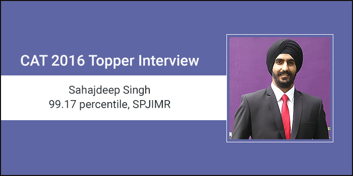 CAT 2016 Topper Interview: Mock tests are the reason why I aced CAT, says 99.17 percentiler Sahajdeep Singh
