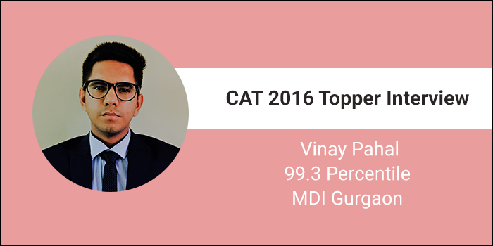 CAT 2016 Topper Interview: Coaching is not necessary for disciplined aspirants, says 99.3 percentiler Vinay Pahal
